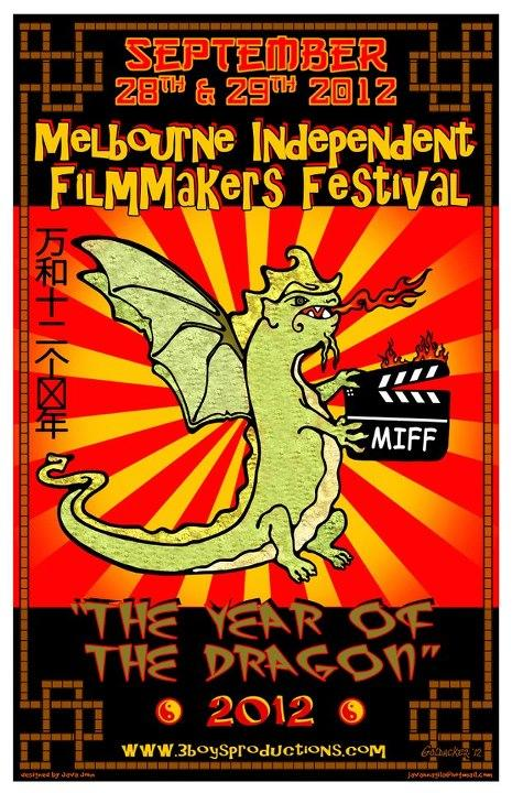 Melbourne Independent Filmmakers Festival poster art by John Goldacker