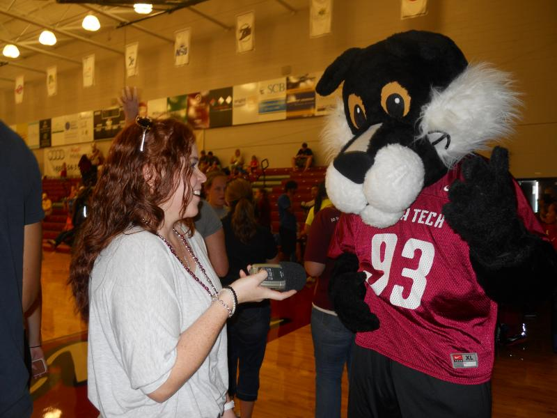 FL Tech's mascot, Pete the Panther, made a special guest appearance.