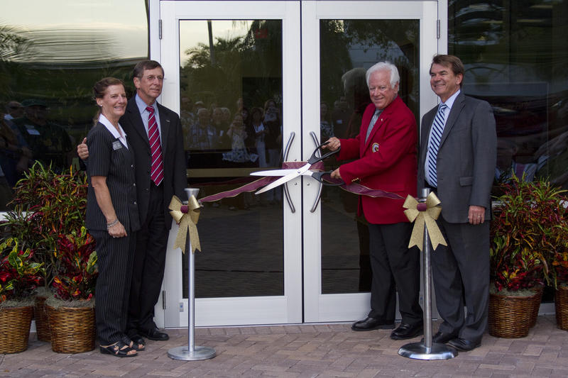 The proverbial ribbon-cutting ceremony