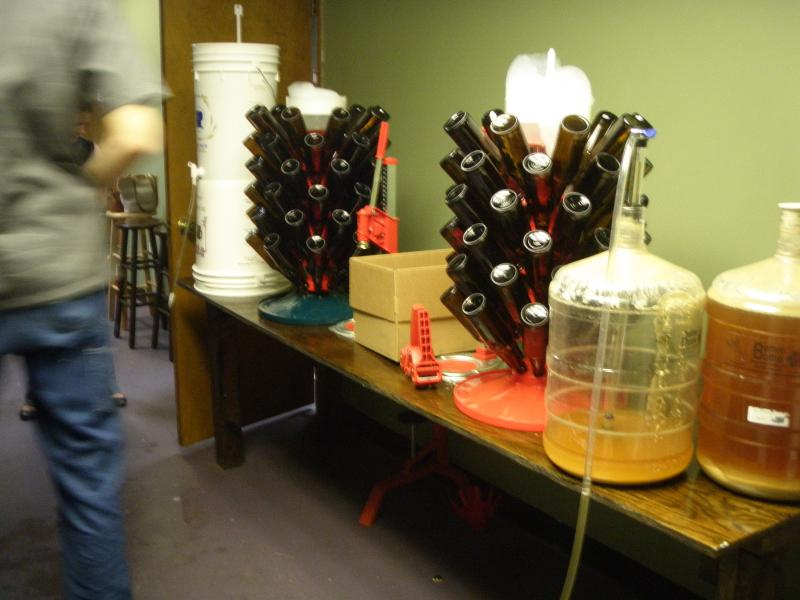 Bottling day at Brock's! 144 bottles clean, sterilized and ready to be filled with WFIT's Oktoberfund Kolsch!