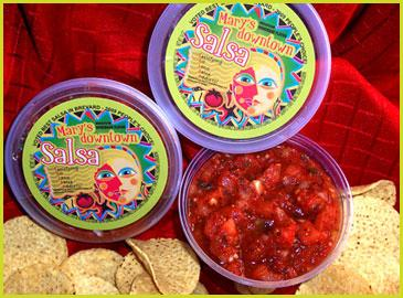Spice up your day with Mary's Downtown Salsa. For your donation of $50 or more!
