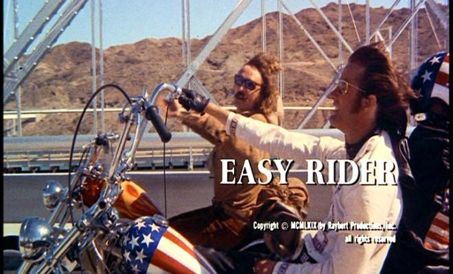 """The iconic 1969 movie """"Easy Rider,"""" featuring Dennis Hopper and Peter Fonda (and his star-spangled motorcycle) will be shown Aug. 20."""