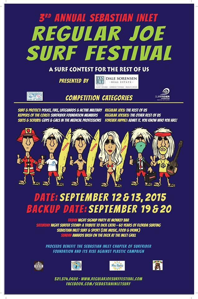 3rd Annual Sebastian Inlet Regular Joe Surf Festival Sep. 11-13