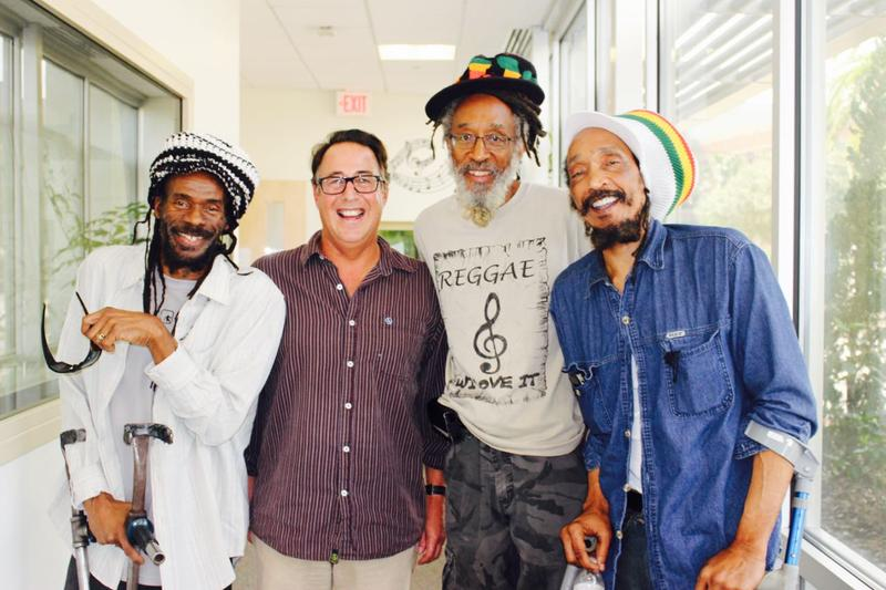 "Lascelle ""Wiss"" Bulgin, Sound Waves host Todd Kennedy, Roots Rock Reggae host Ras Michael, and Cecil 'Skelly' Spence"