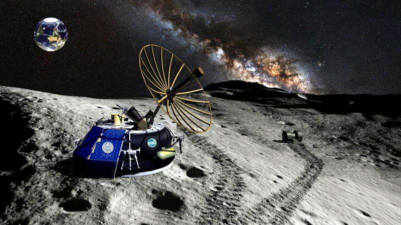 An artist illustration of the Moon Express MX-1 lunar lander on its mission to the moon. On Dec. 8, 2015, Google Lunar XPRIZE officially verified the company's launch contract, paving the way for a moonshot by the end of 2017.