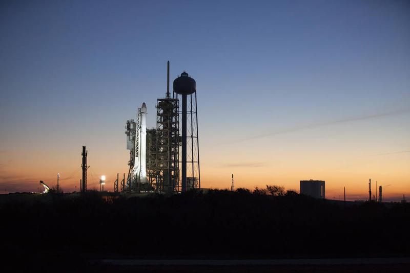 Falcon 9 Rocket on SLC 39A