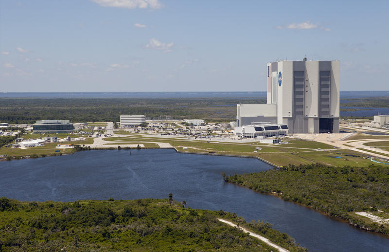During his visit to NASA's Kennedy Space Center in Florida, Vice President Mike Pence will tour the Vehicle Assembly Building, an enormous structure originally built for assembly of Apollo/Saturn vehicles.