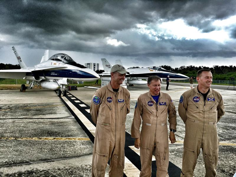 F-18 Pilots at Kennedy Space Center
