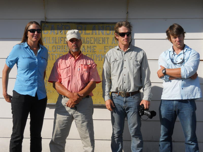 Expedition members Mallory Lykes Dimmitt, Elam Stoltzfus, Carlton Ward JR., & Joe Guthrie