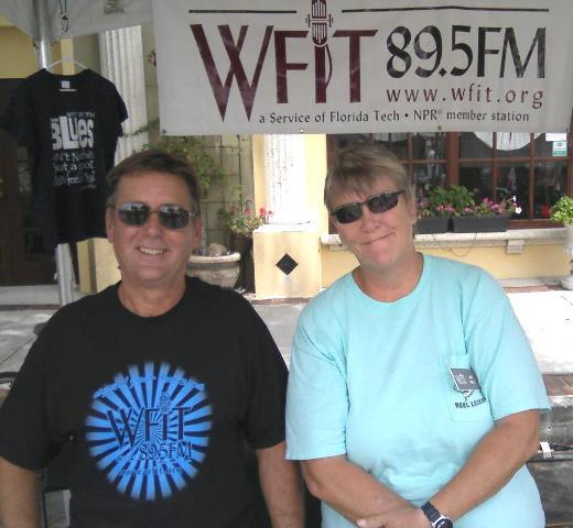 WFIT volunteers Rick Glasby and Jan Holt.