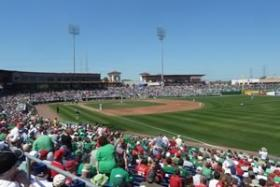 Bright House Field in Clearwater is one of 14 stadiums hosting Spring Training games from Feb 21-March 30.