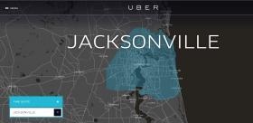 Uber Jacksonville website