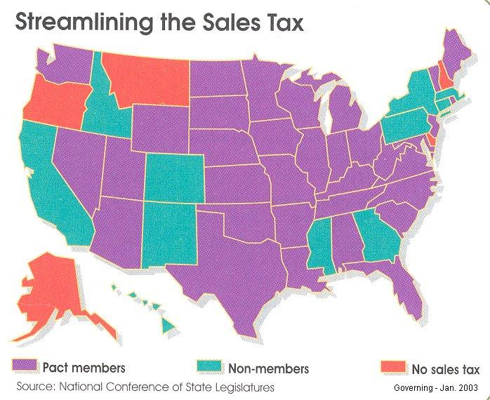 twenty-two states have joined a pact to tax sales on the Internet