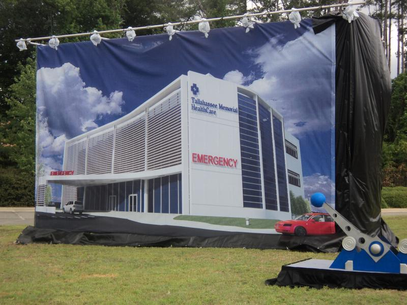 The result of what city, county, and hospital officials unveiled at the ground breaking ceremony: the design of the new Tallahassee Memorial Emergency Center-Northeast