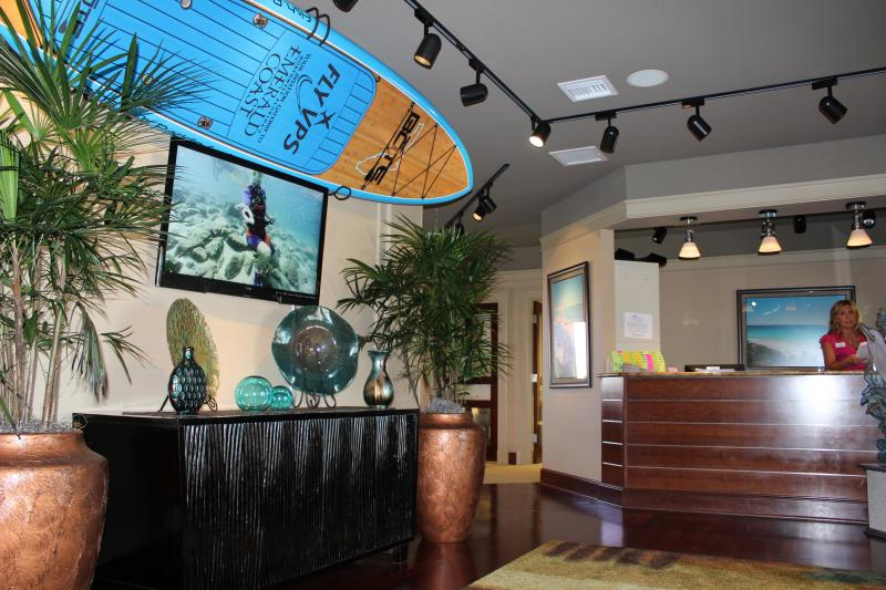 Lobby of the Okaloosa Visitor Center in Destin