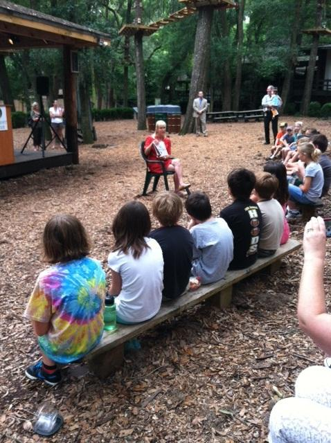 Florida First Lady Ann Scott reads to children at the Tallahassee Museum on June 8