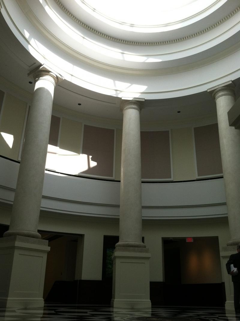 colonnaded courthouse atrium