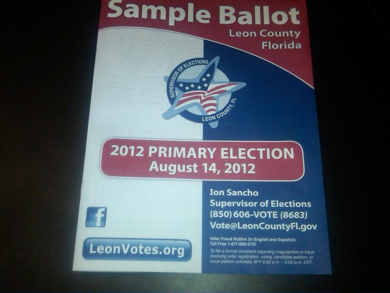 Leon County Voters should be receiving their August 14th primary ballots in the mail