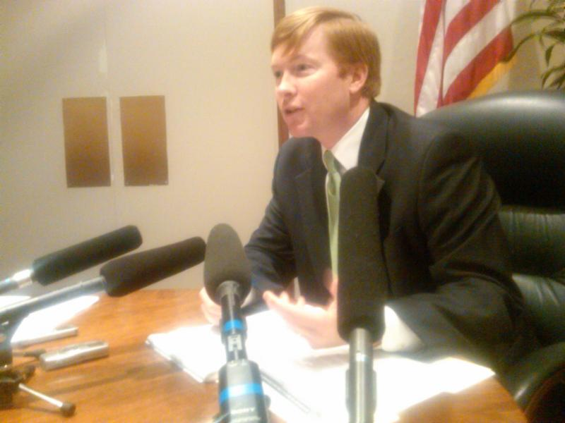 Agriculture Commissioner Adam Putnam talking about the audit at a Tuesday press conference.