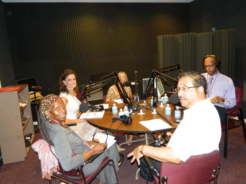 Tallahassee Mayor John Marks, COPE advocate Miaisha Mitchell, Leon County's Jennifer D'Urso, Fitness Instructor Shannon Colavecchio and host, WFSU-FM News Director, Trimmel Gomes