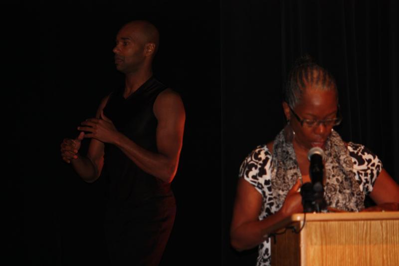 Darrell Jones and Jawole Willa Jo Zollar at Dr. Bill Jones memorial event.