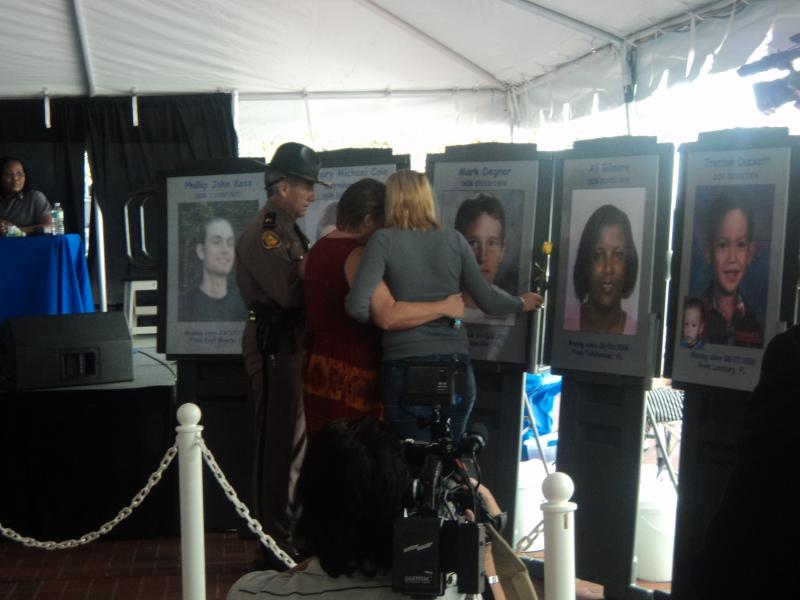 Families of missing loved ones remember their loved ones at Florida Missing Children's Day ceremony