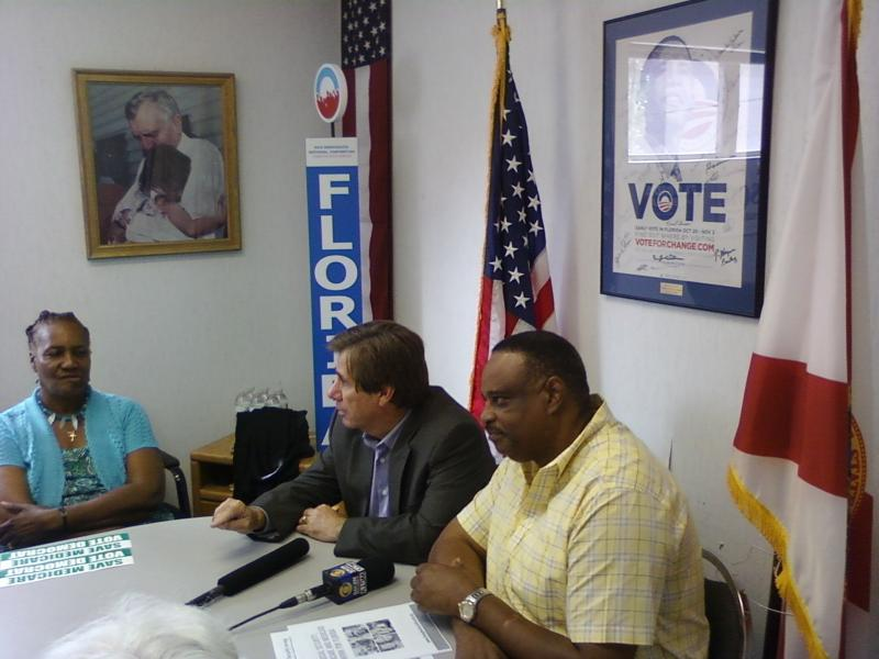 Florida Democratic Party Chairman Rod Smith with Democratic Congressional Candidate for District 2 Al Lawson at the Roundtable Discussion