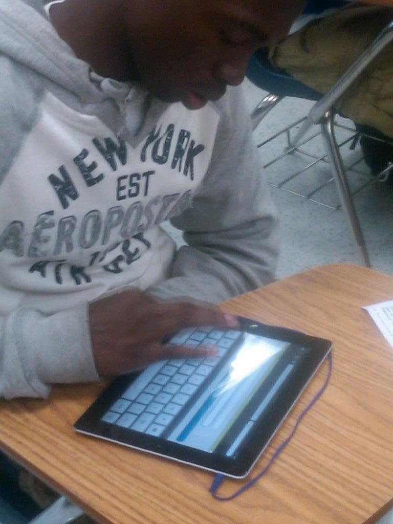 Students do their daily math lessons using iPad's at Tallahassee's Godby High School