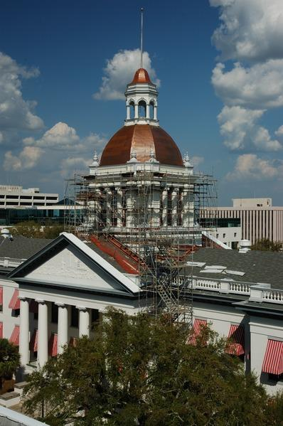 Professional photograph, documenting substantial completion of architectural services by MLD Architects on the Cupola of the Historic Capital of Florida