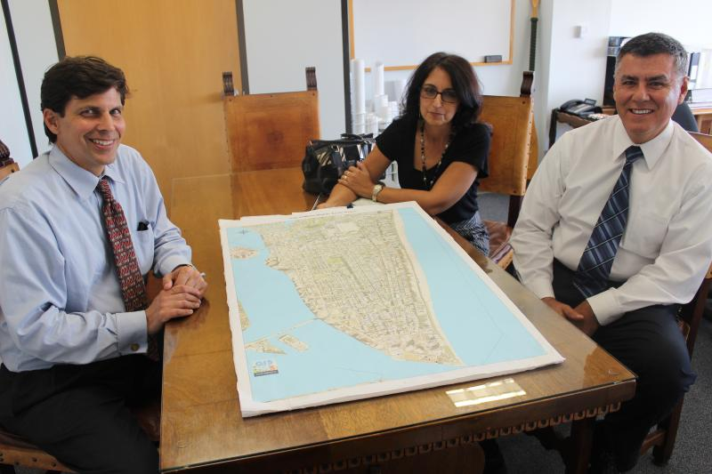 At Miami Beach City Hall, city engineer Rick Saltrick, spokeswoman Nanette Rodriguez and public works director Fred Beckmann talk about their proposed 20-year storm water management plan that accounts for sea-level rise.