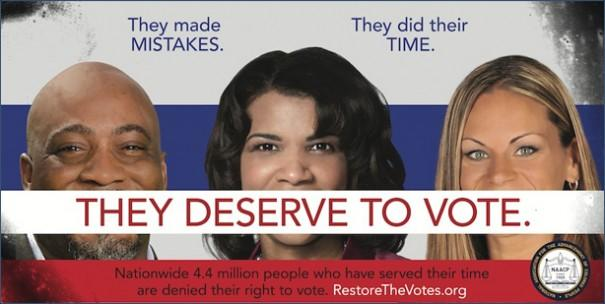 "One of the Billboards used in the ""Restore the Votes"" campaign"