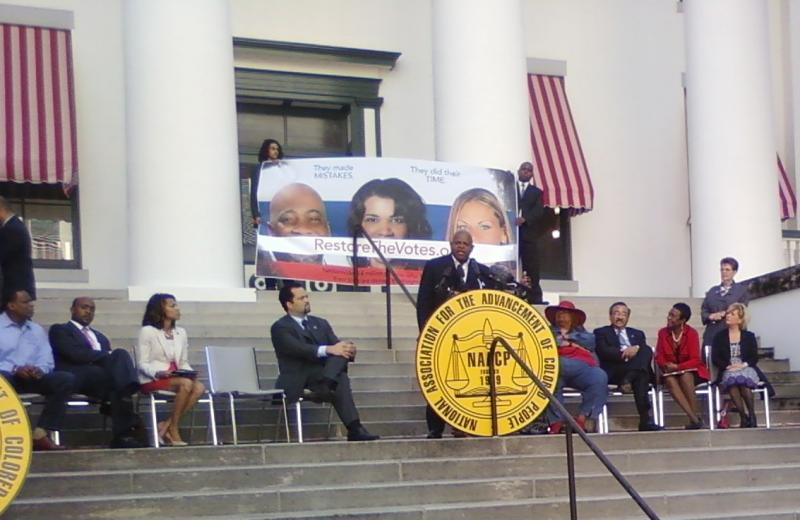Actor Charles Dutton speaking at the unveiling of the new national billboard campaign