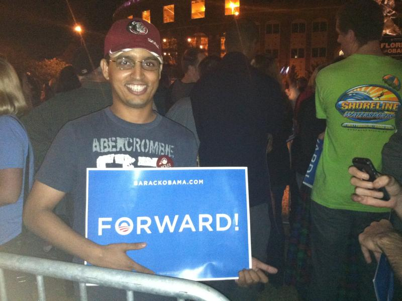 Obama supporter Aziz Ismael