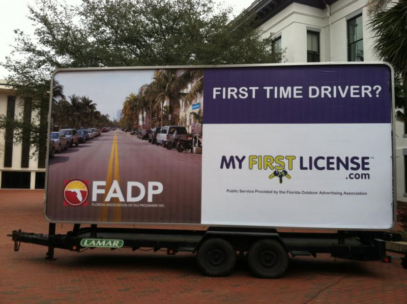 The state is putting this billboard up all over Florida to try and save young lives.