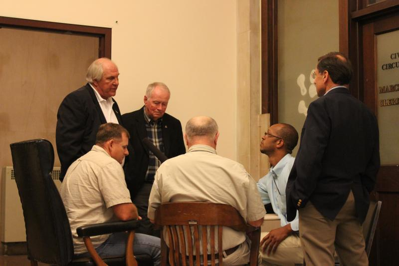 From left to right: Dan Tonsmeire, Jim Estes, Shannon Hartsfield, Don Ashley, Dave McClain and Trimmel Gomes
