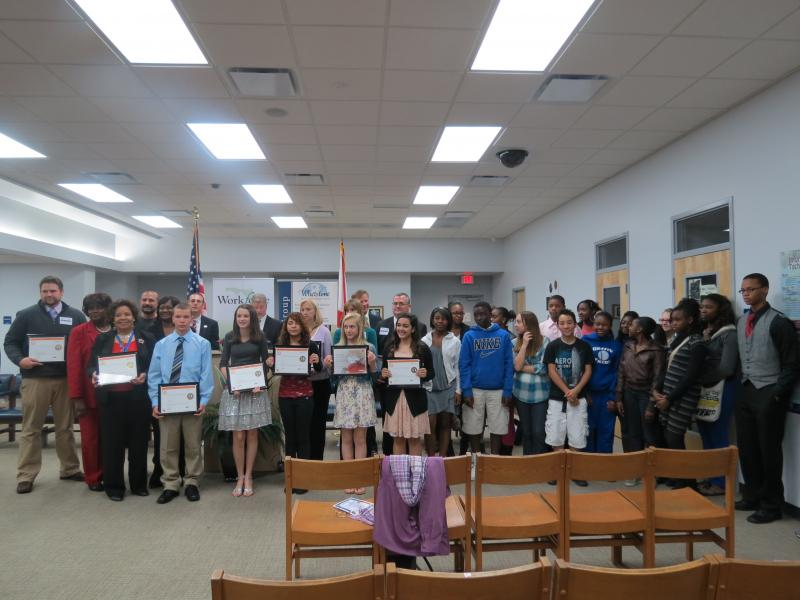 Students gather at Griffin Middle School for a recognition ceremony