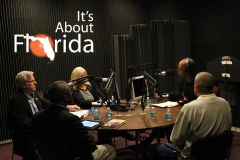 World Aids Day Guests on WFSU's It's About Florida, sitting in the studio