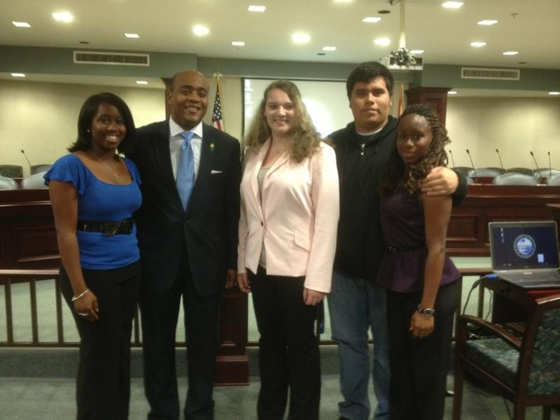 Rep. Williams with students from Florida State University School.