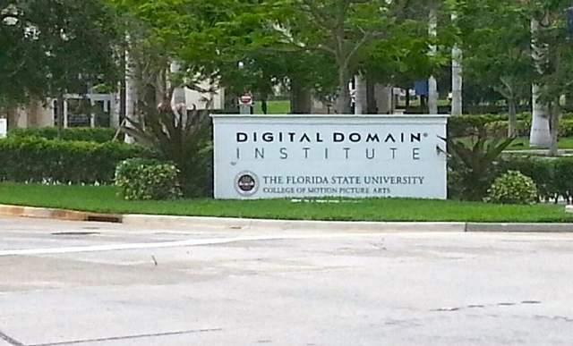 A sign still stands at the W. Palm Beach Digital Domain facility