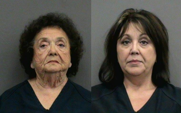 The mugshots of Maxcine Darville (left) and her daughter Joanne Carter (right), the CEO and Assistant CEOs of the Council on Aging of Florida