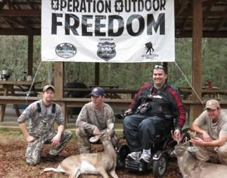 Veterans who participated in past Operation Outdoor Freedom Hunts