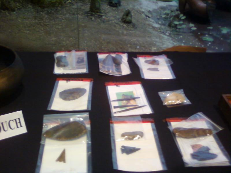 Some of the relics recovered from illegal artifacts dealers.