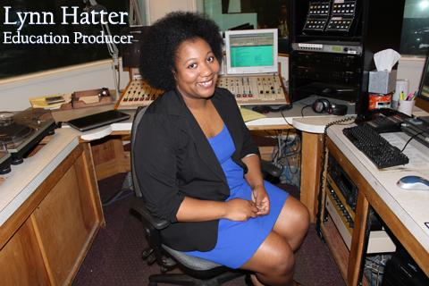 Lynn Hatter seated in studio