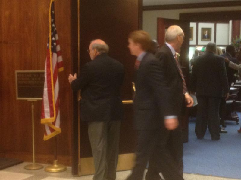 Fl. Agriculture Commissioner Adam Putnam leaves House Chamber after Rick Scott gave his State of the State Address