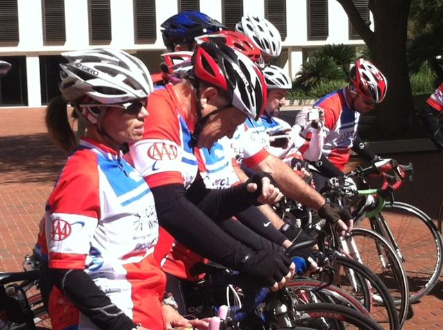 Cyclists rode about 300 miles to raise awareness about the need for more cancer research funding.
