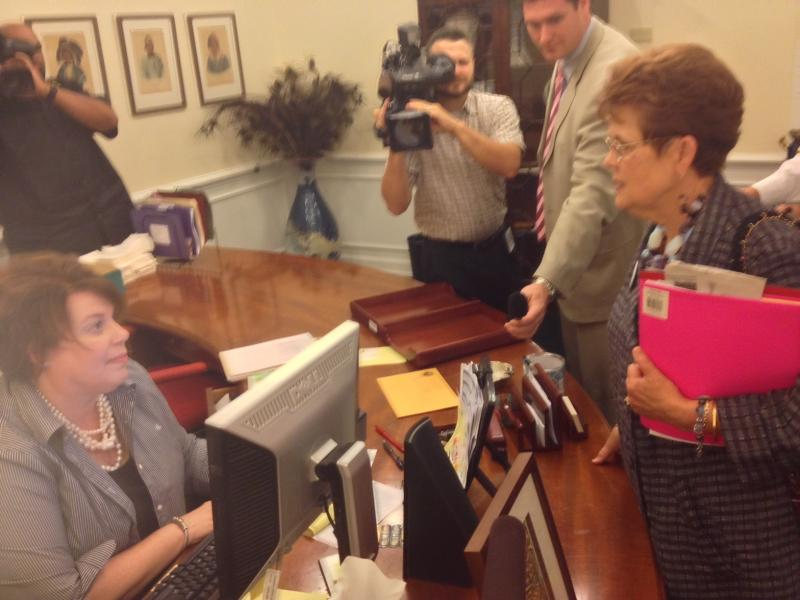 Barbara DeVane, lobbyist for National Organization for Women in Florida, asking to speak to the Governor.