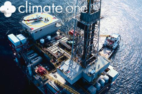 oil rig with climate one logo