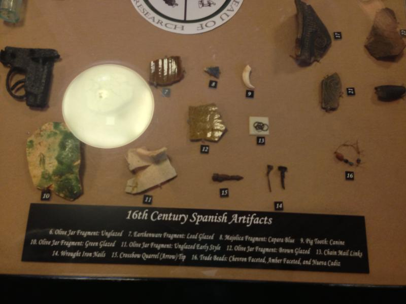 Artifacts recovered from the de Soto site reveal the conflict between the Spaniards and Apalachee Indians.