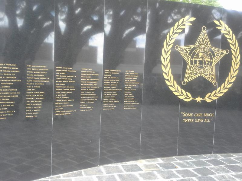 The Florida Sheriff's Association Memorial Wall