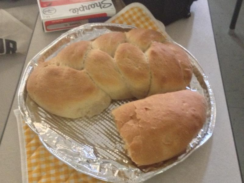 Some bread baked by Woodville Elementary School students.